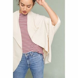 Anthropologie Pure + Good Ribbed Cocoon Cardigan